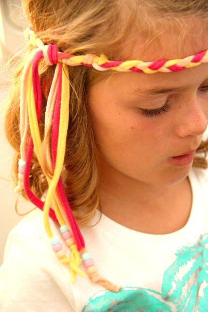 Braided head band hippie costume kids  ideas crafts also girl scouts pinterest headbands rh