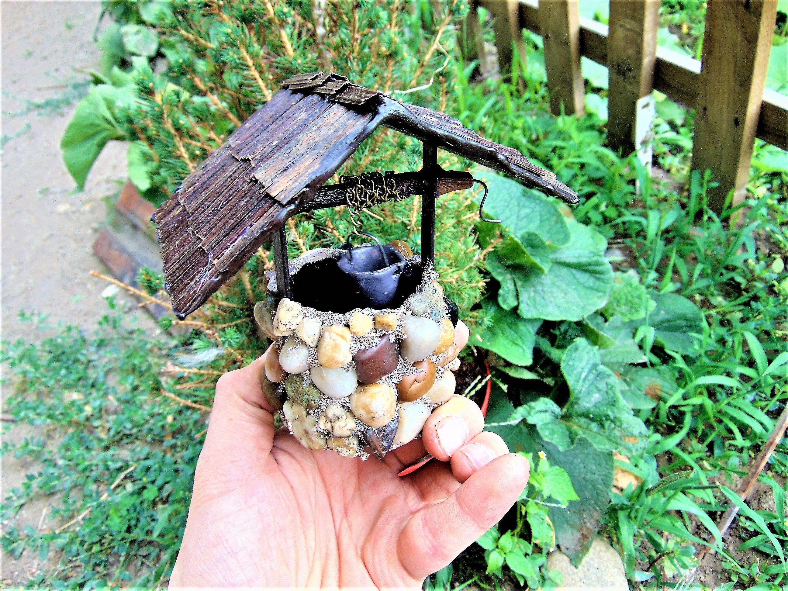 Fairy Garden Wishing Well,Fairy Well with bucket, Fairy Garden ...