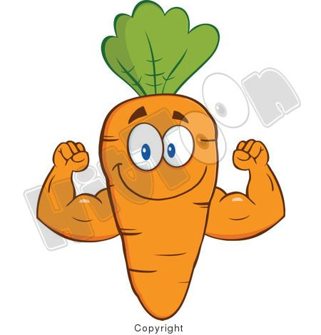 Strong Orange Carrot Flexing His Arms With Images Custom