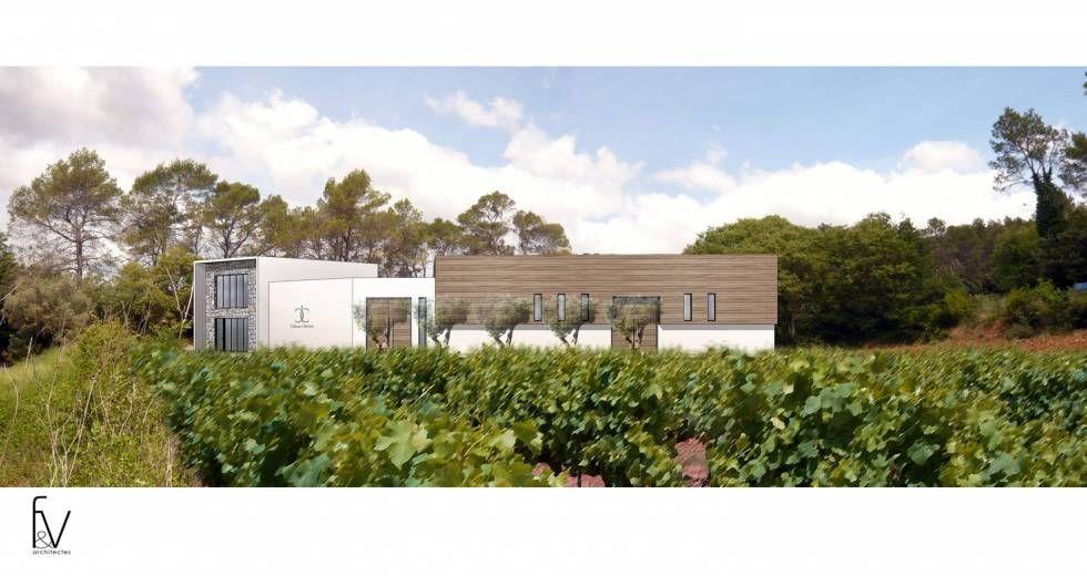 Projet de chai viticole dans le Var f&v Architectes
