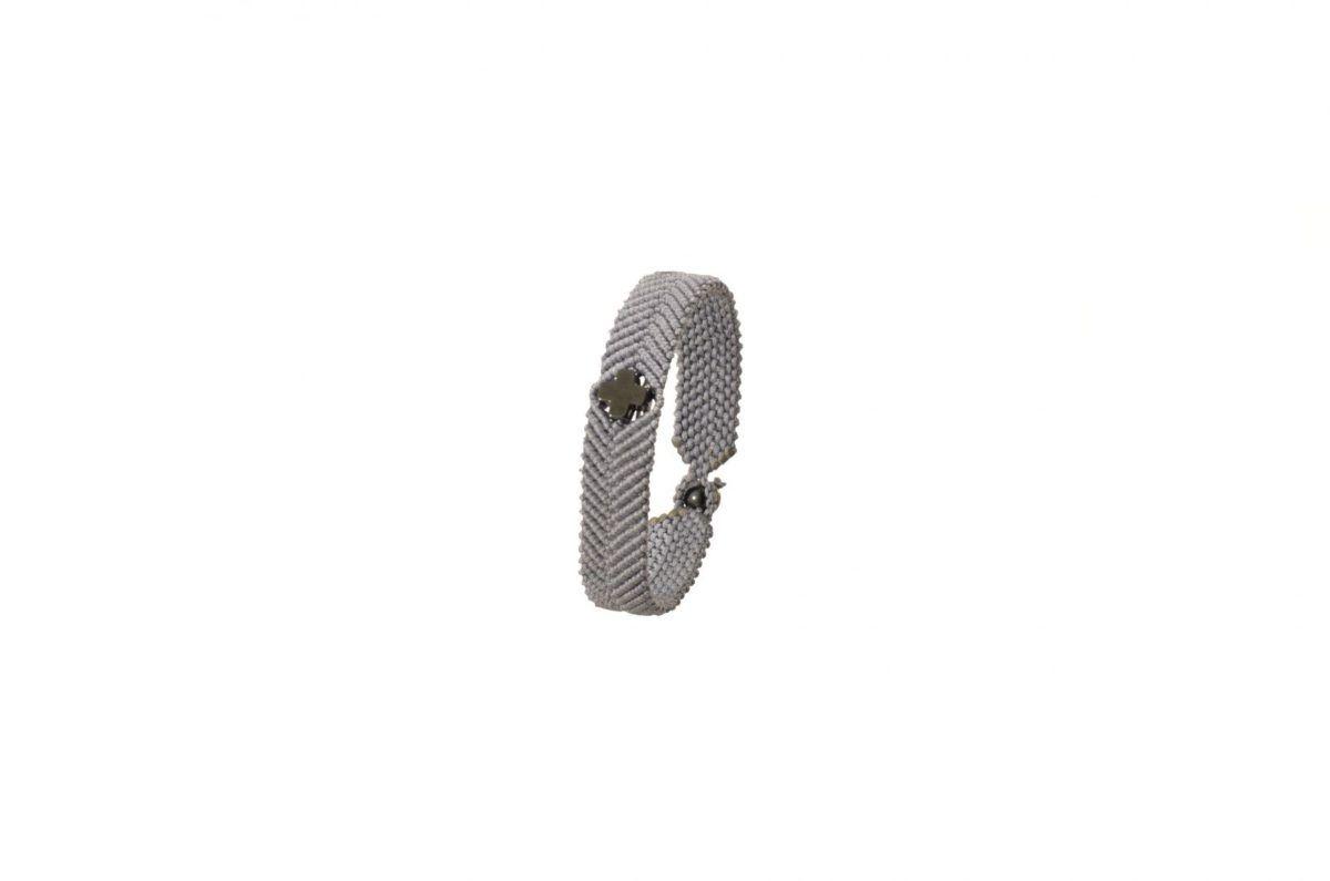 Ανδρικό πλεκτό βραχιόλι με αιματίτη - Macrame bracelet for men with hematite
