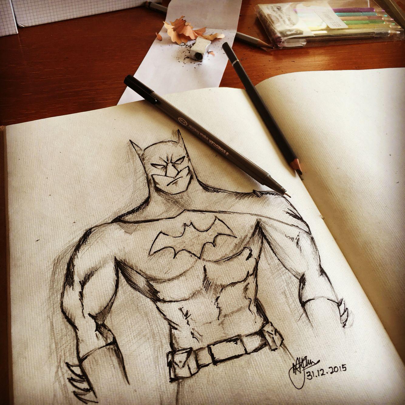 Batman Sketch ink and pencil