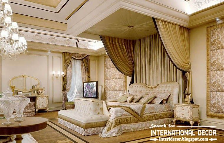 european luxury head boards | luxury classic bedroom interior decor ...