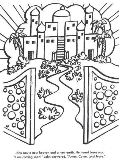 gates of heaven colouring pages  bible coloring pages