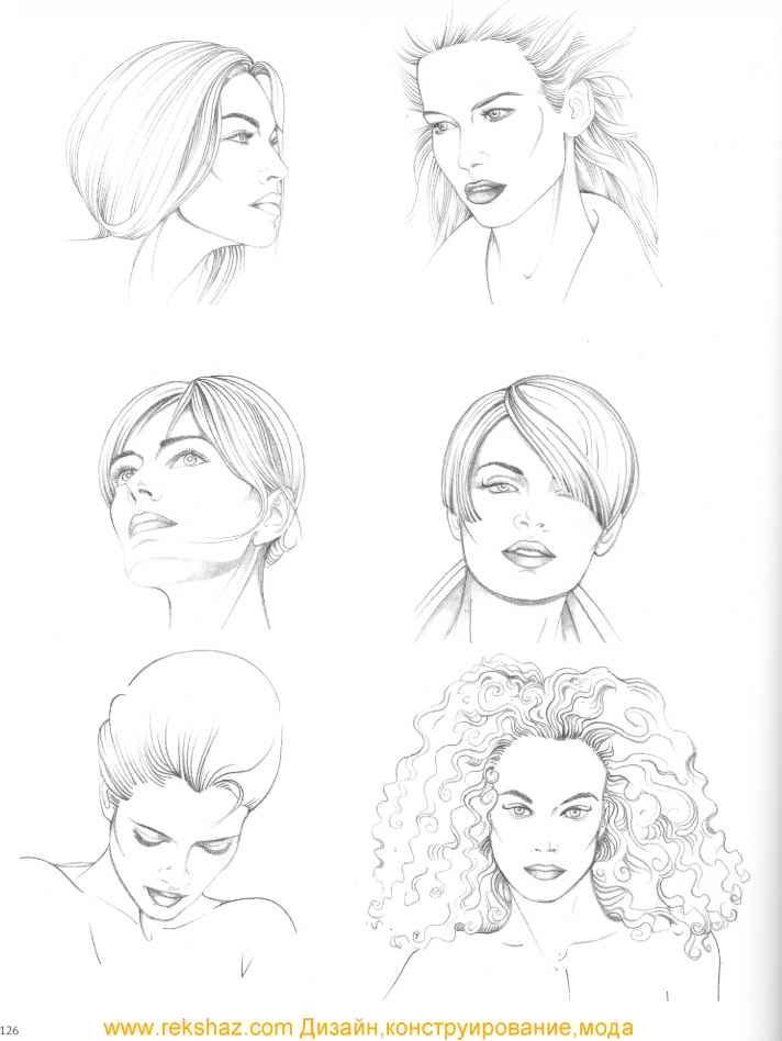 Fashion Illustration Speed Painting with Ink -   10 hairstyles Drawing pictures ideas