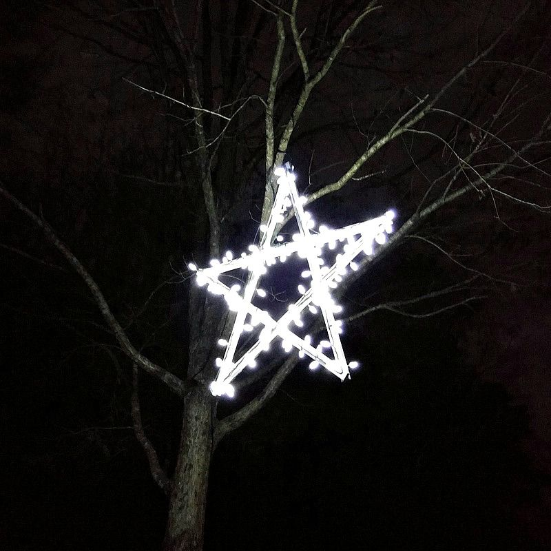 DIY Outdoor Wooden Lighted Stars Star and Christmas decor