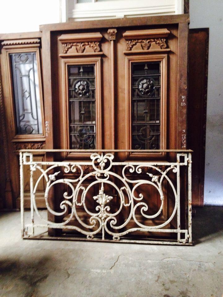 Reja balc n antiguo de hierro forjado aberturas de - Rejas para balcon ...