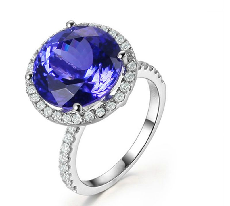 gold iliana aaa certified h in tanzanite ct diamond igi peacock si ring rings g and