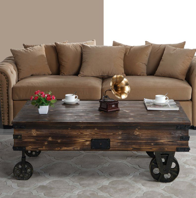 Bradwell country style wooden coffee table coffee table