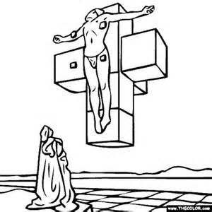 Salvador Dali Crucifixion Art Coloring Pages Art