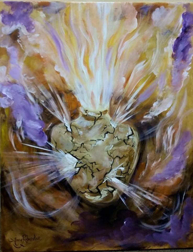 God Seeks Broken Vessels By Brenda Drake | Prophetic art, Prophetic painting, Spiritual art