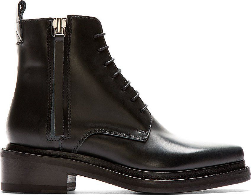 Acne Studios - Black Leather Pointed Linden Ankle Boots   boots ... 55ce1e9d710