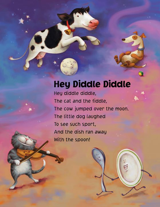 Pin by Charmaine Cretin on rhymes | Hey diddle diddle, Nursery rhymes, Nursery  rhymes poems