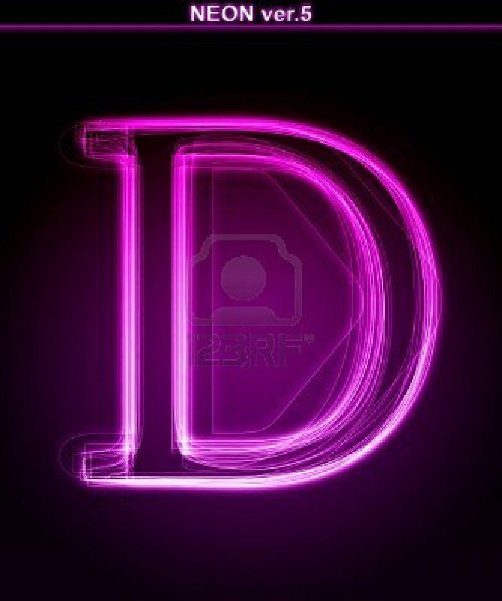 neon D | Lettering, Letter d, 3440x1440 wallpaper
