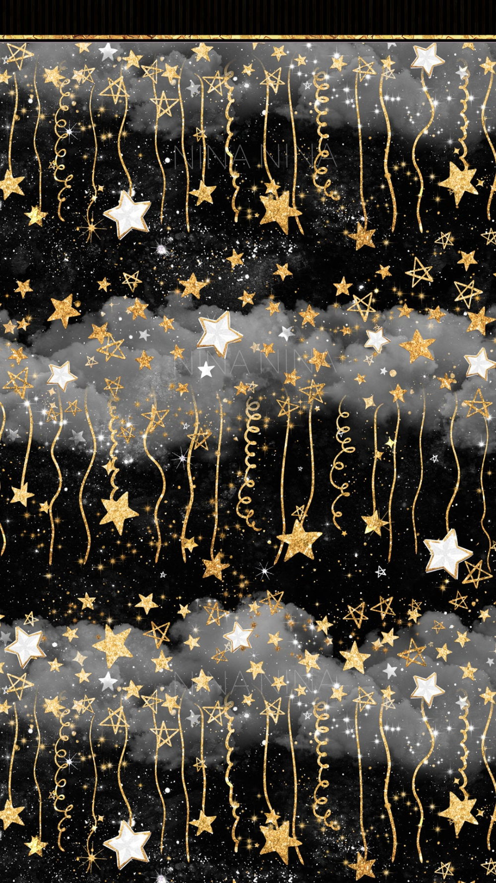 Stars Digital Papers Gold Glitter Seamless Pattern Black And Etsy Sky Overlays Watercolor Galaxy Black Wallpaper Iphone