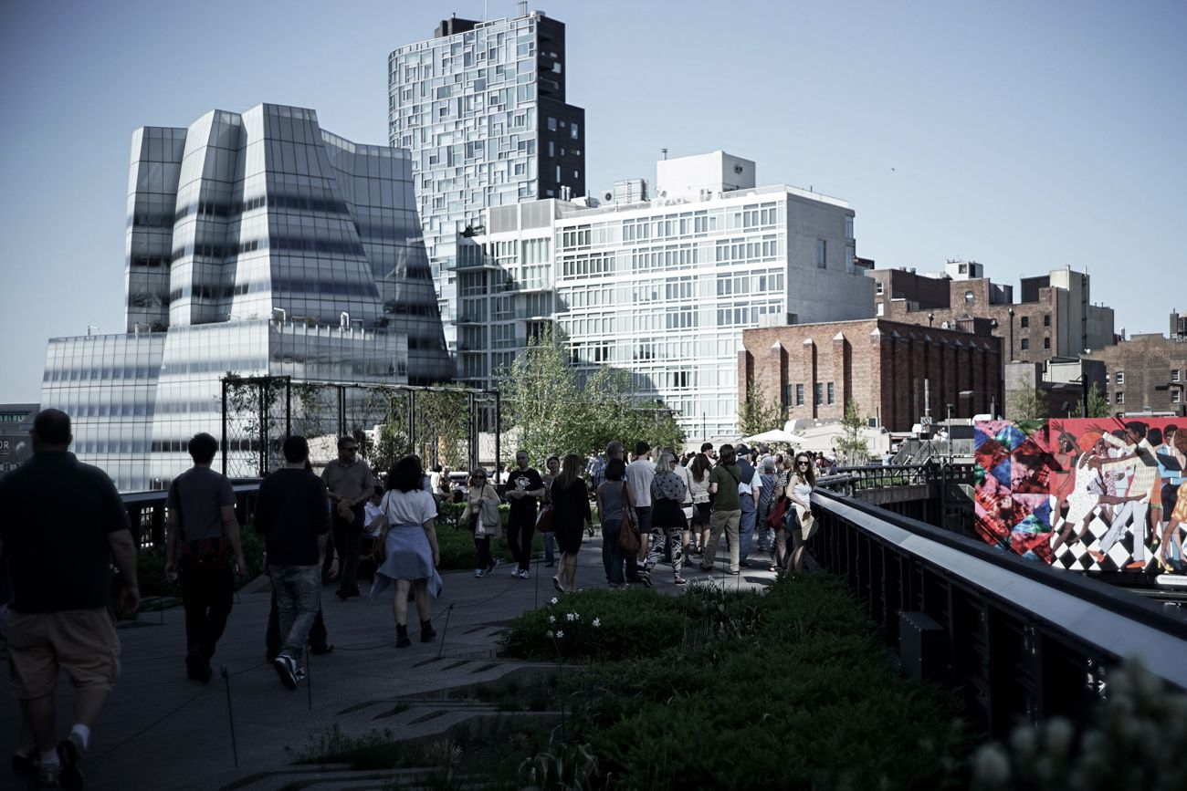 A view from The high Line, NYC, Frank O Gehry