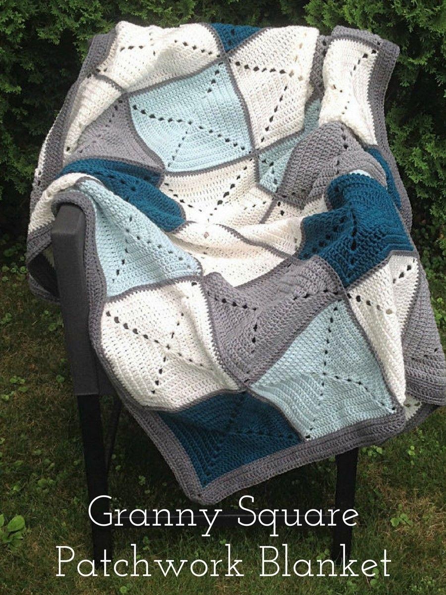 Crochet Pattern Basic Granny Square Patchwork Crochet Blanket Ad