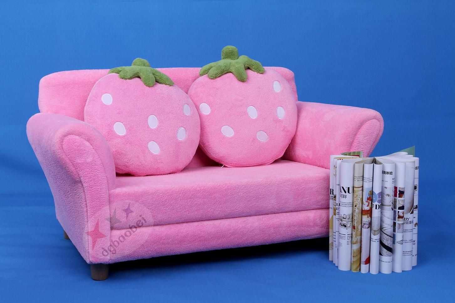 Reclining Sofa High End Two Seat Sweety Strawberry Children Sofa SXBB
