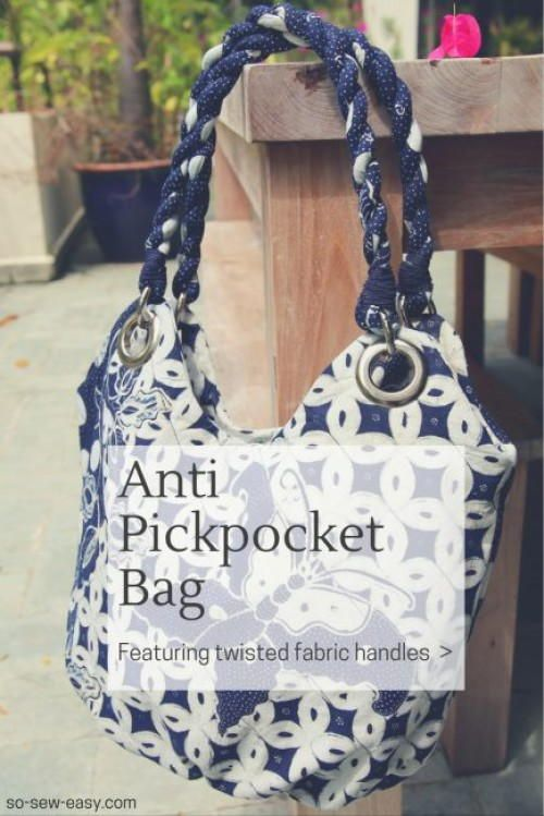 Anti Pickpocket Bag Pattern | sewing | Pinterest | Bolsos, Costura y ...