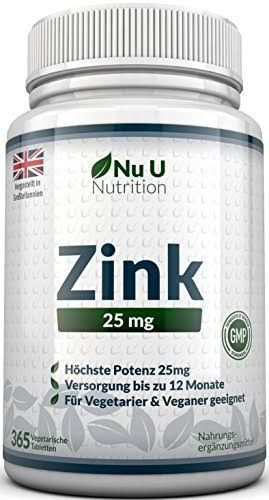 365 Tabletten Zink gluconat Immunsystem Haut Haare Zink Tabletten 25mg
