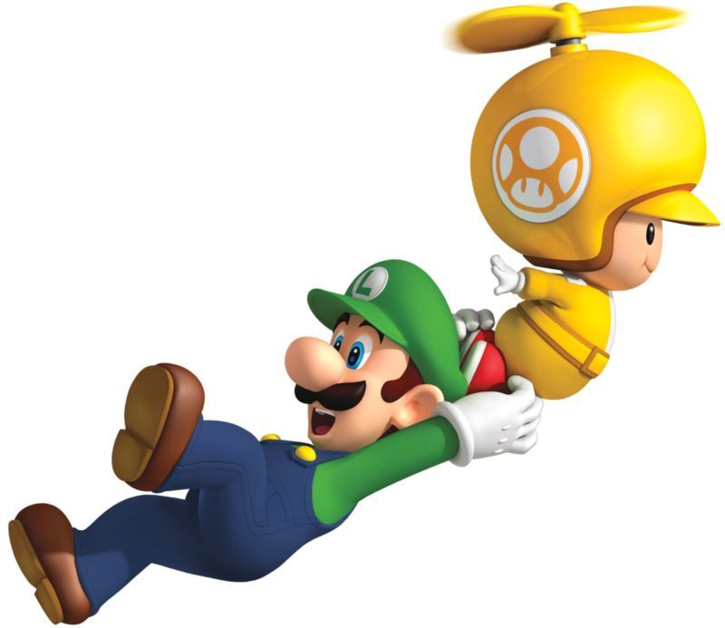 "9"" Toad Luigi Super Mario Bros 2 Wii Games Brothers Wall Decal Sticker Decor Art | eBay"