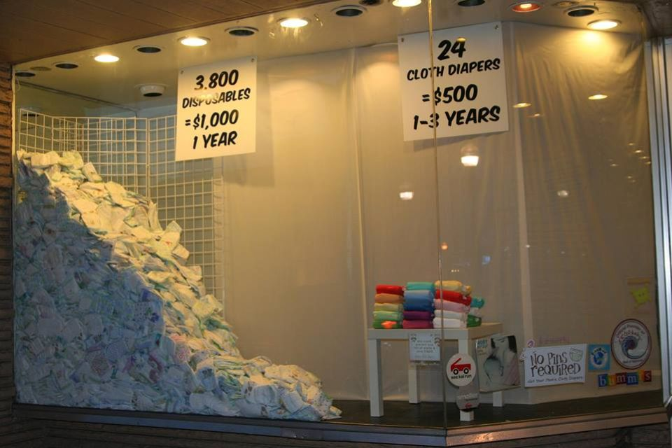 Cloth Diapering.  Disposables in 1 year vs. cloth 1-3 years, plus you can use it for multiple kiddos