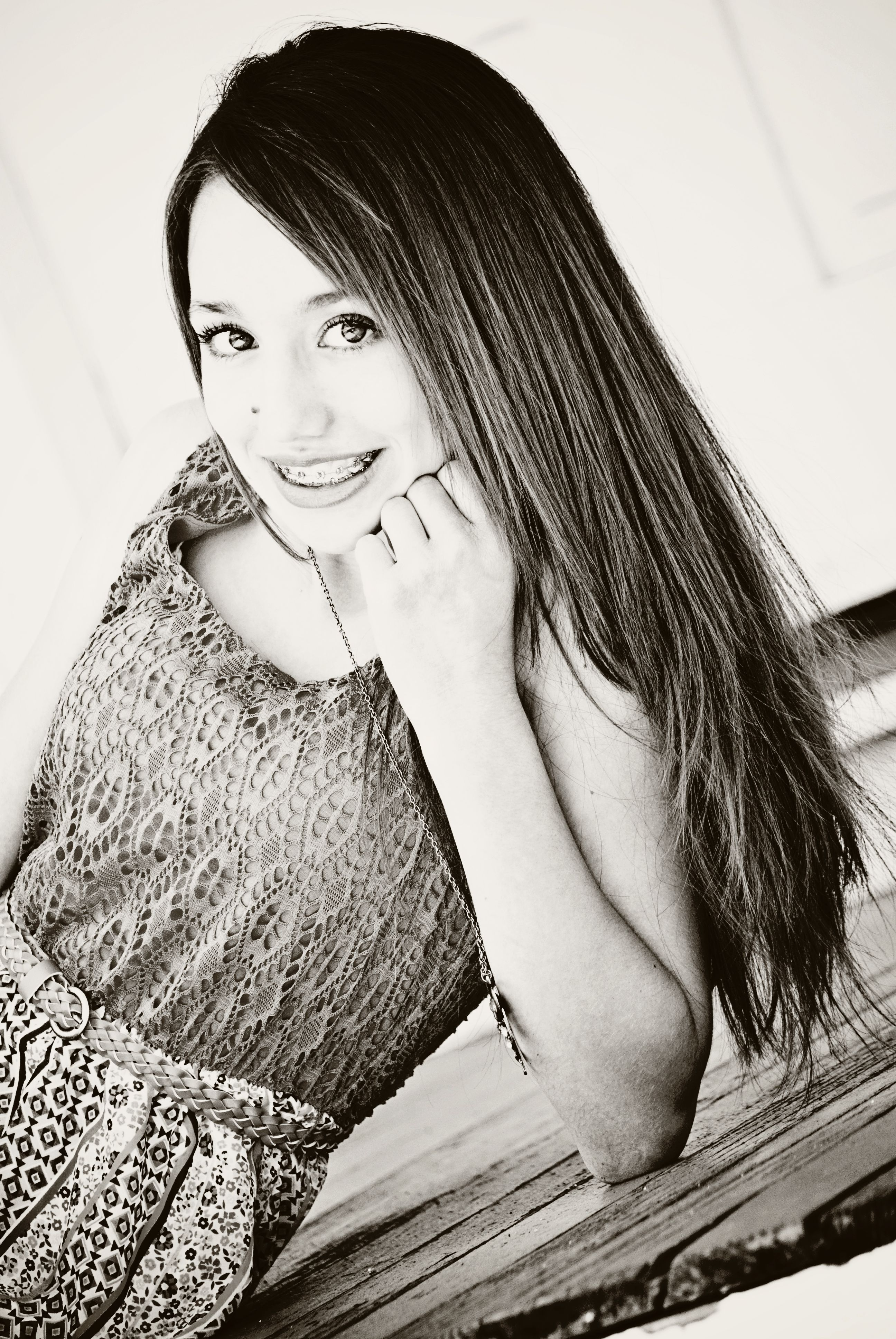 14 year old portraits rich blk/wht