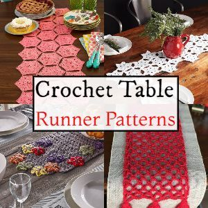 Crochet Table Runner Free Patterns And Suggestions • DIY Home Decor