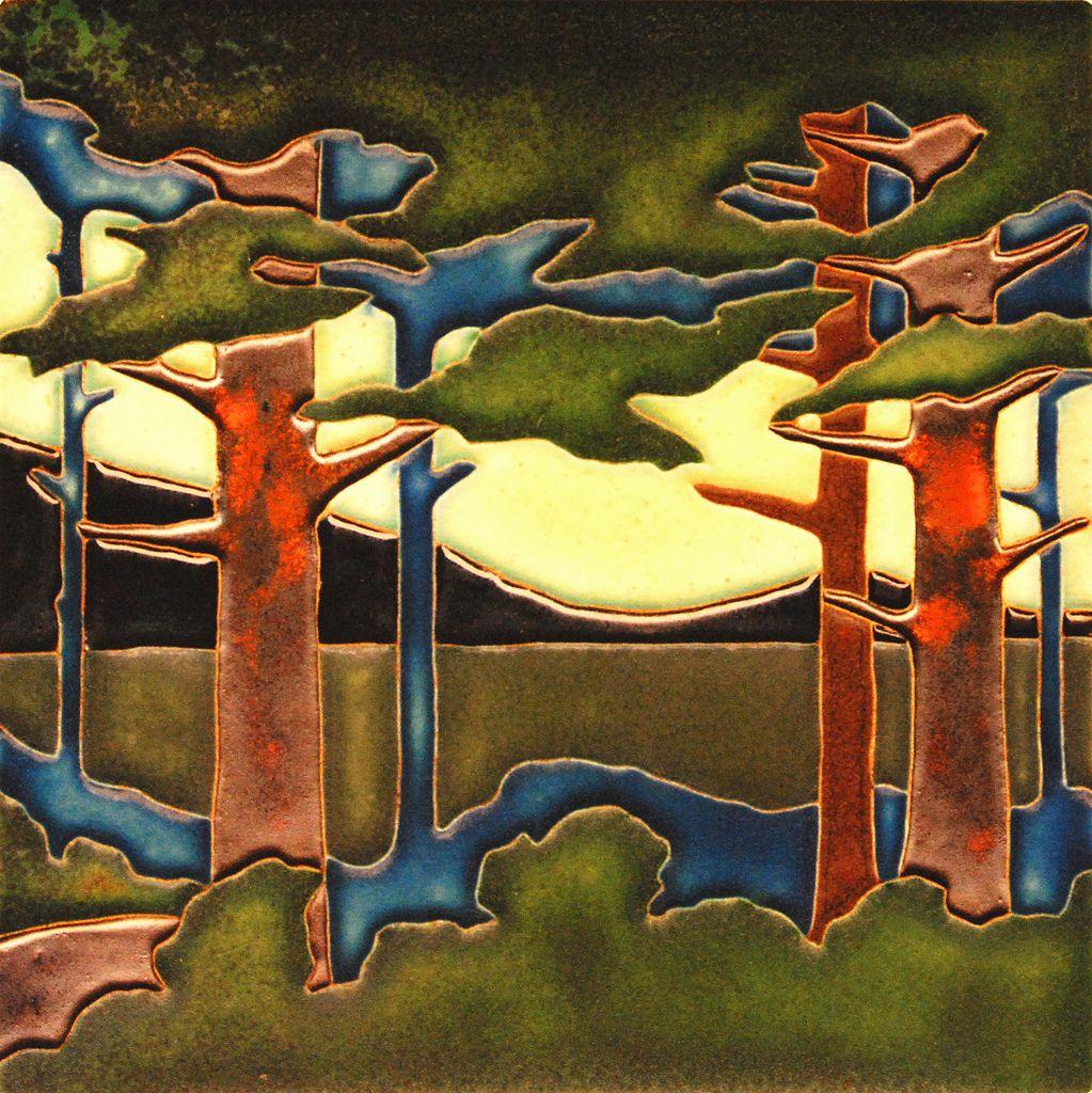 Handmade Tiles and Tile Frames - Arts & Crafts - Mission ...  Arts Craft Tile Egret