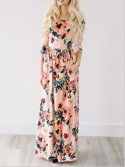 ec423ff2611c Casual Ecstatic Harmony White Floral Print Maxi Dress in 2019 ...