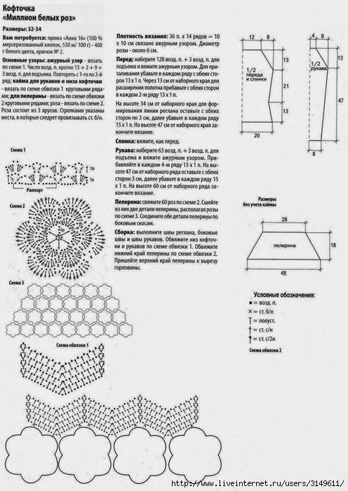 crochet sweater   diagrams