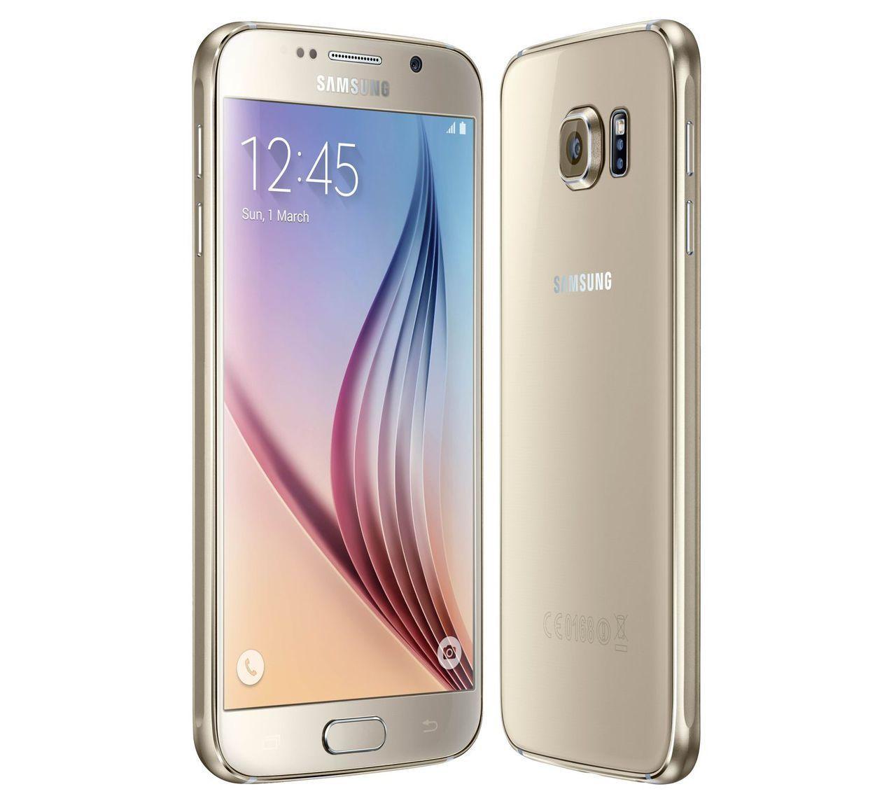 New Unlocked Samsung S6 32gb G920f Gold Quad Core 16mp Camera Smartphone Samsung Galaxy S6 Phone Smartphone