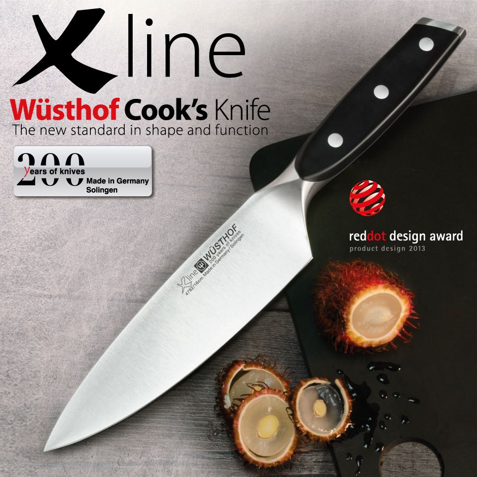 Wusthof Xline Cooku0027s Knife: The NEW Transparent Ceramic Coating On Xline  Knives Gives Optimum Protection Against Corrosion, Very Good Non Stick  Qualities ...