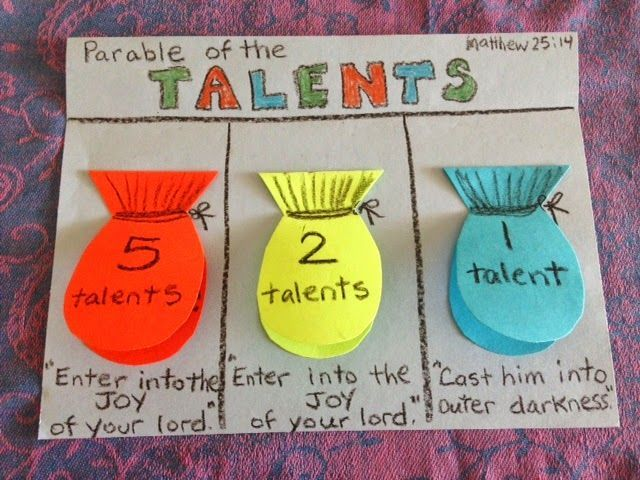 Craft And Lesson On The Parable Of Talents Childrens Bible Lessons