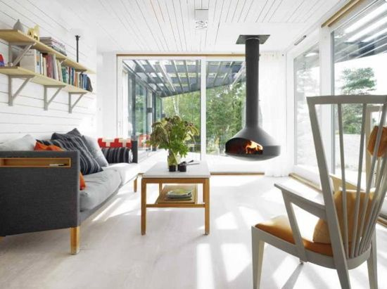 Scandinavian Interiors get the look: scandinavian vacation home | fire places