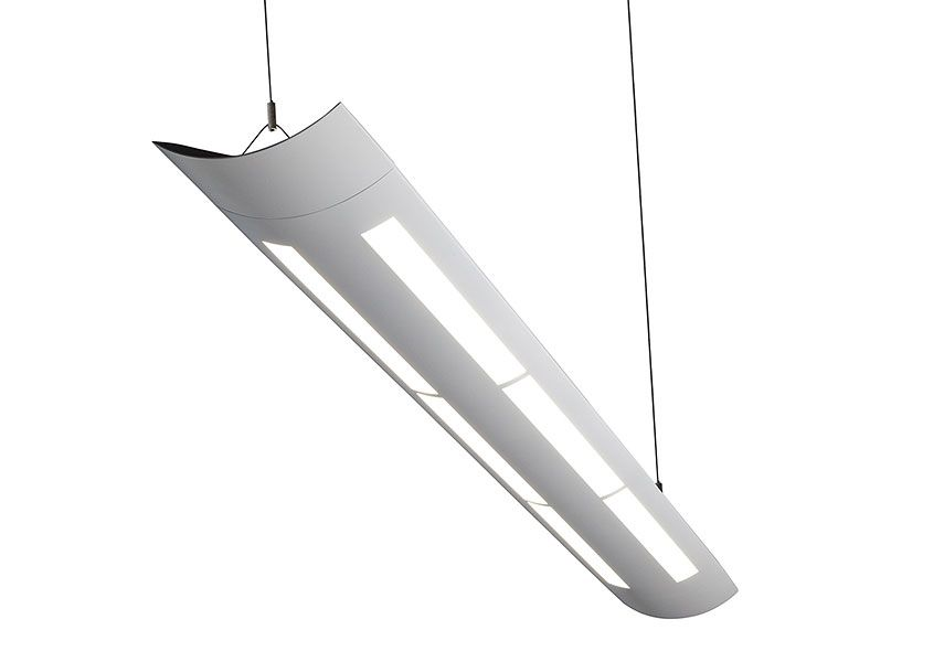 suspended lighting fixtures. GE LED Lumination SS-Series On White Suspended Lighting Fixtures I