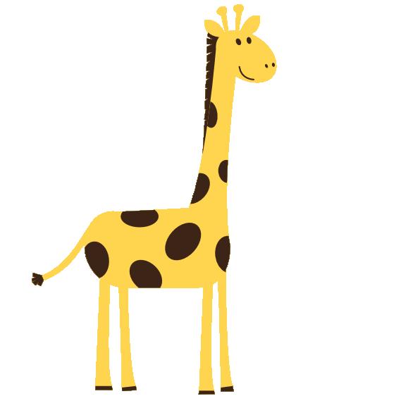 clip art images aniamals colorful animal giraffe scalable vector rh pinterest com  cute giraffe clipart black and white