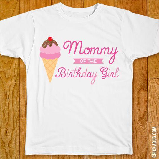Ice Cream Birthday Party Iron-On - Family of the Birthday Girl #icecreambirthdayparty