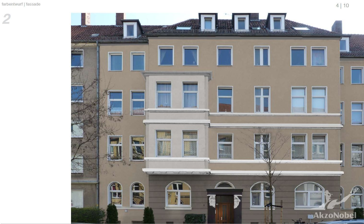 Maler Hannover Heyse - Auftrag erteilt – Fassadensanierung + Malerarbeiten an dieser Fassade in Hannover