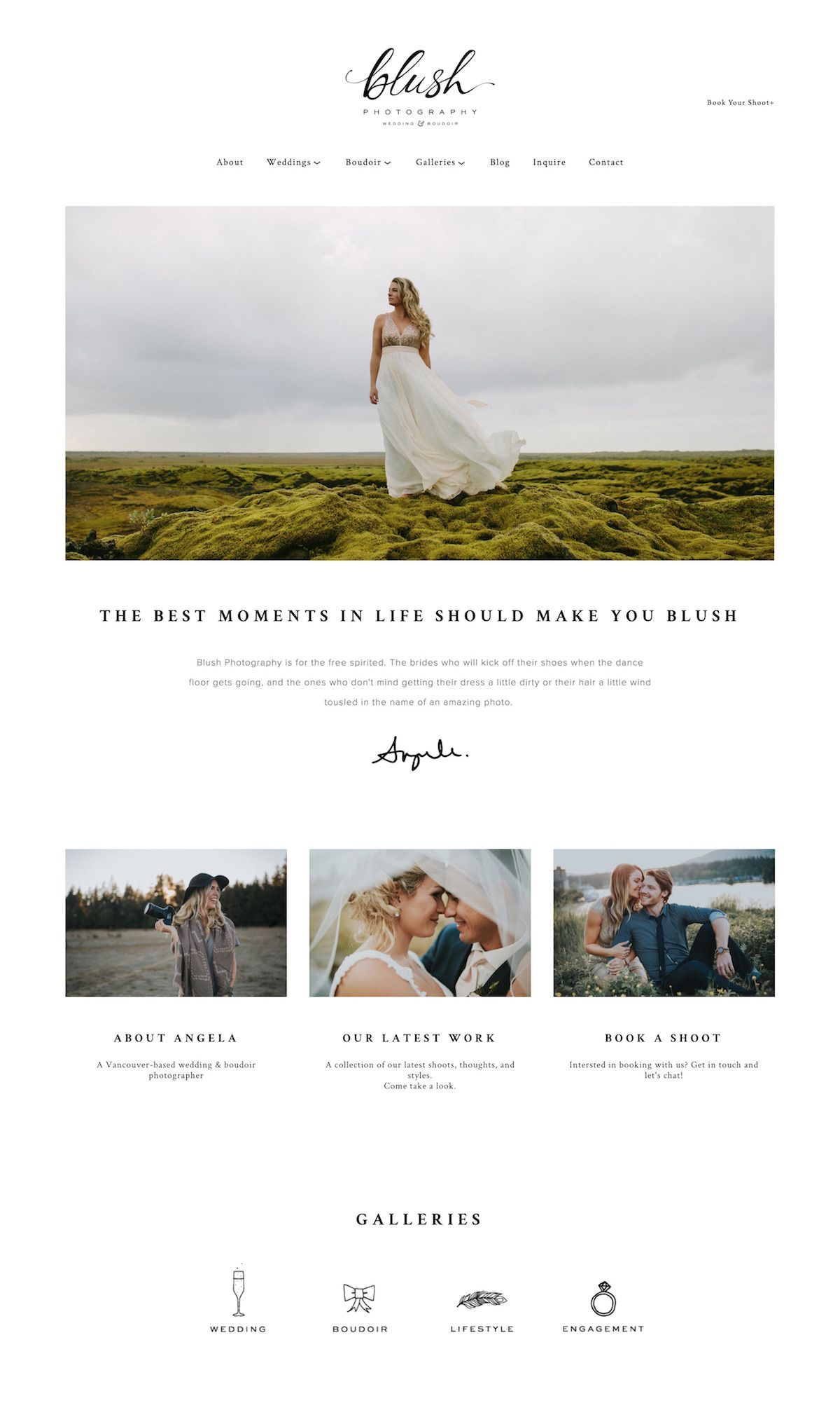 10 best example Squarespace websites • photographer edition ...