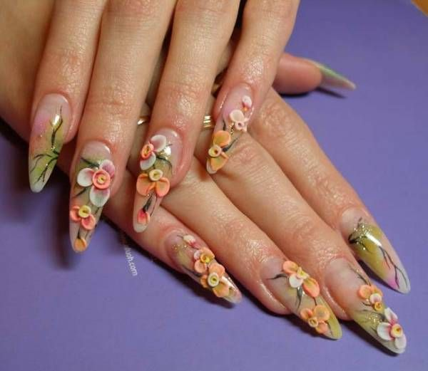 Photos Of Beautiful Acrylic Nails Nail Enhancements Beauty Ramp A Little Obsessed With Beauty 3d Nail Art Designs Flower Nail Art Painted Nail Art