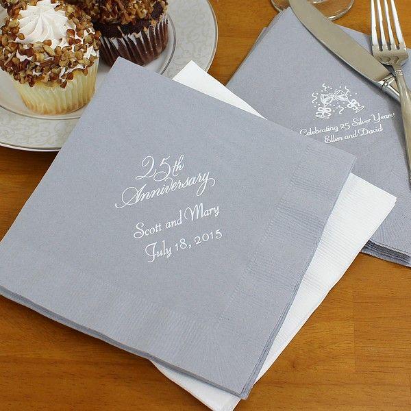25th Wedding Anniversary Cake Ideas: 25th Anniversary Luncheon Napkins (Set Of 50)