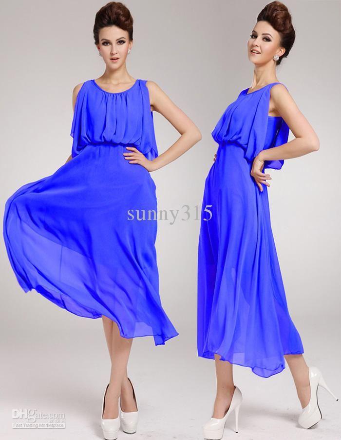 c0ad3b7afa5b Summer Dresses Women Cape Style Silk Chiffon Dress Sexy Western Vest Long  Dress Bohemian Beach Dress