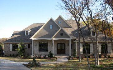Exterior With Brick Stone House Exterior Brick And Stone Exterior Design Backyard