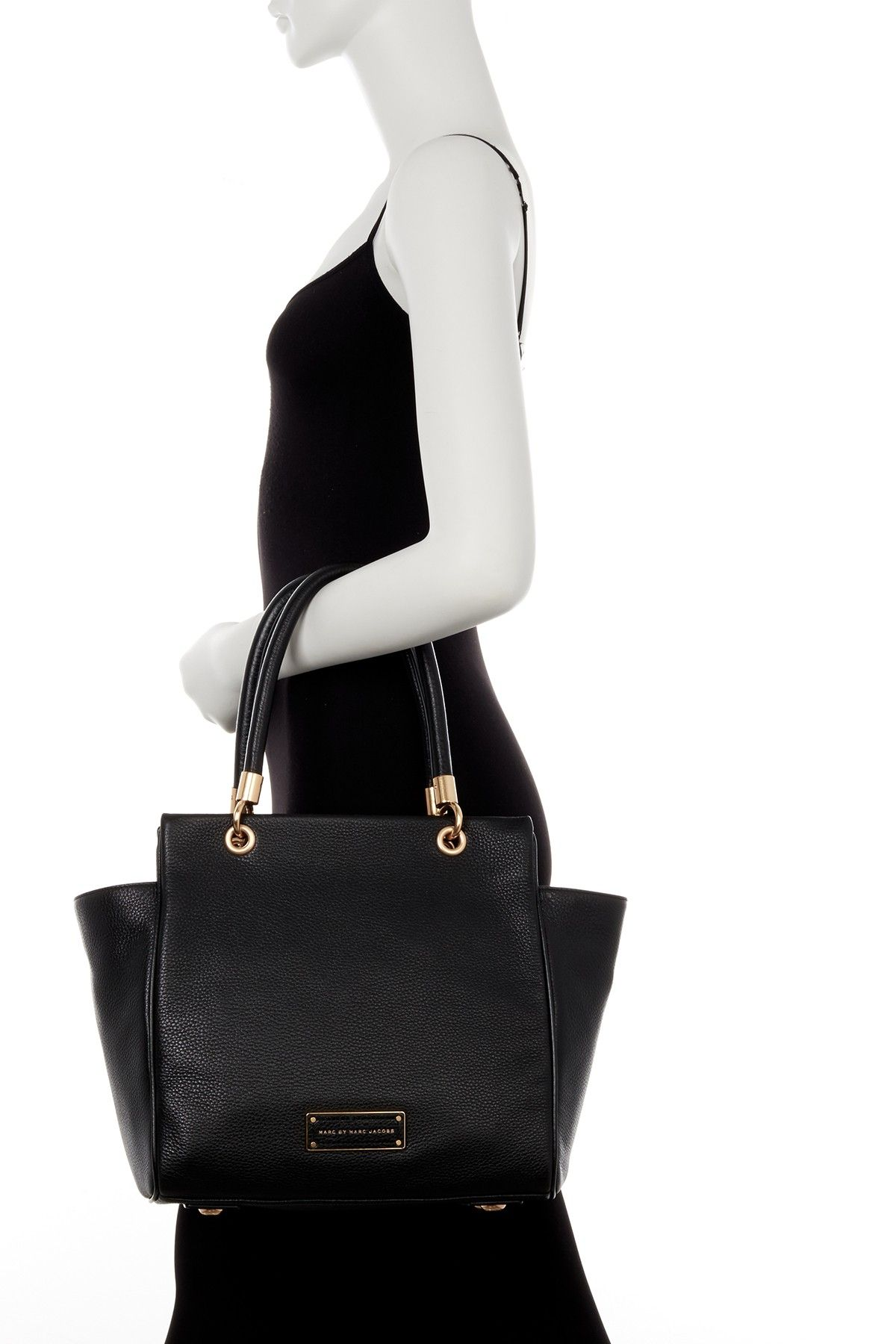 Leather Winged Double Shoulder Bag