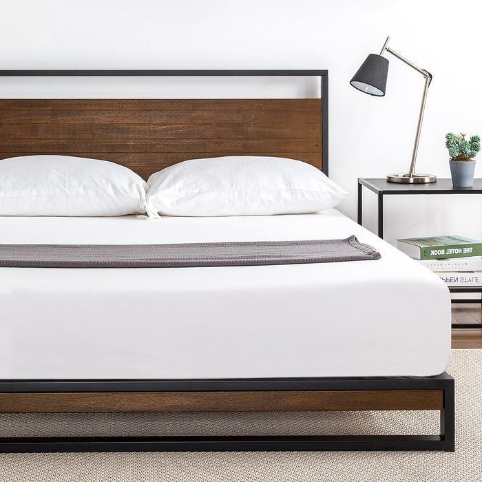 Dennise Metal And Wood Platform Bed Metal Platform Bed