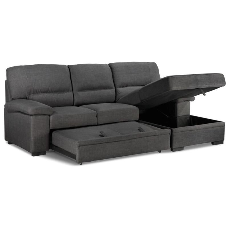 Used Tessaro Sleeper Sofa W Storage Popup Chaise For Sale In Marlborough Letgo In 2020 Sectional Sleeper Sofa Sectional Sofa Sectional