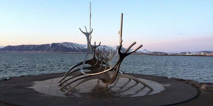 The Sun Voyage Sculpture, Reykjavik, Iceland