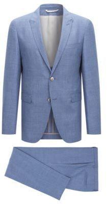 Hugo Boss T Nebil Bent Slim Fit Wool Linen Suit 38r Blue Linen Suit Fashion Suit Jacket