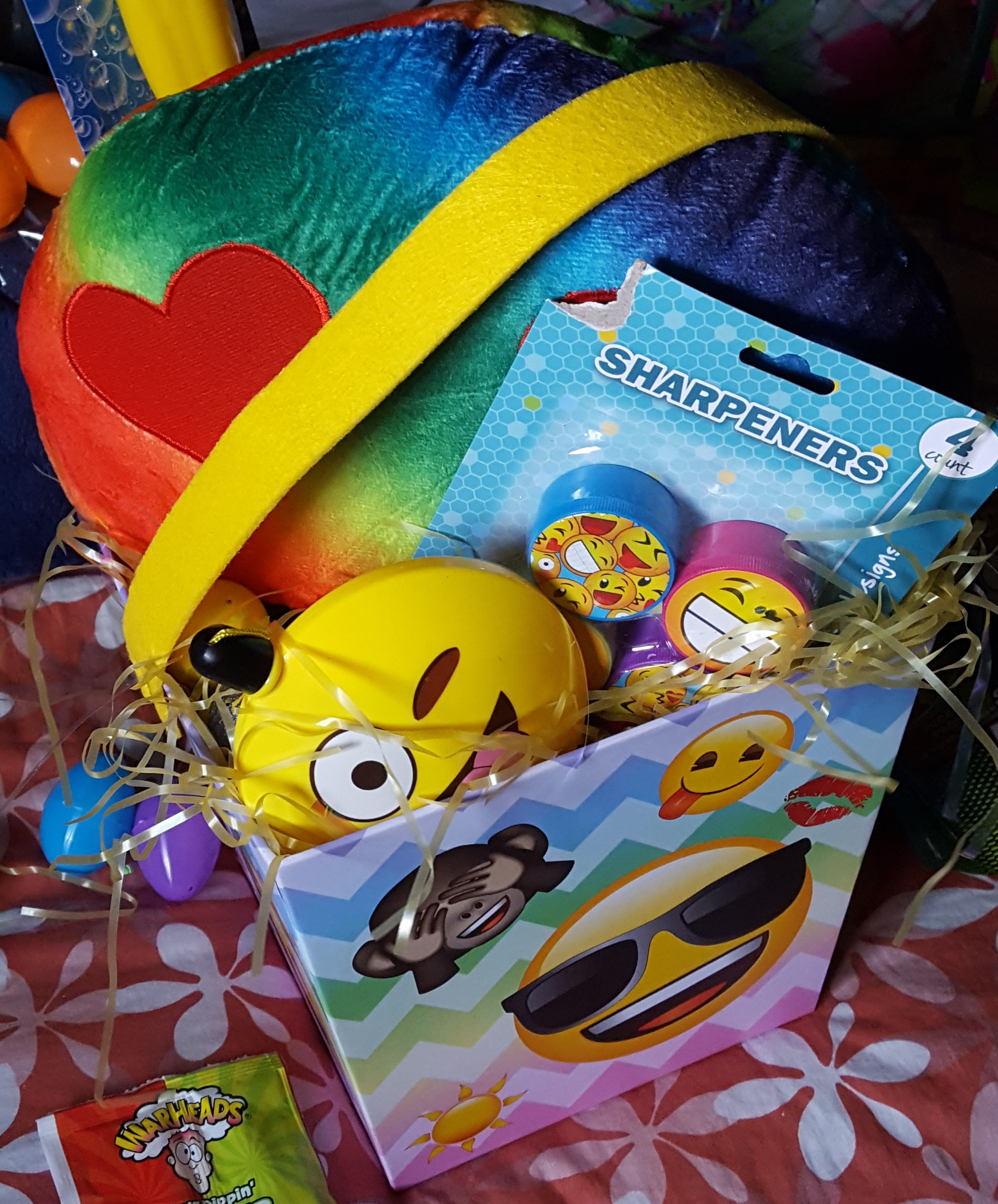 Emojithemed easter basket you choose the contents of